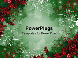 PowerPoint Template - Image and illustration composition for Christmas Background or greeting card with copy space.
