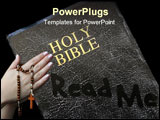 PowerPoint Template - A dusty and neglected Bible beckons our attention.