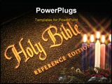 PowerPoint Template - image of the bible time exposure using flashlight
