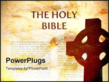 PowerPoint Template - Bible Background with cross and grungy texture