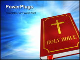 PowerPoint Template - Single red Holy Bible on white background