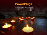 PowerPoint Template - Votive candles on an ancient holder in Santa Maria della Salute Church Venice Italy