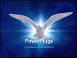PowerPoint Template - Holy Spirit Bird on Royal Blue Starburst Background