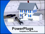 PowerPoint Template - mini house with construction drawings