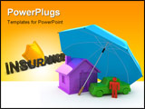 PowerPoint Template - Home Insurance, Life Insurance, Auto Insurance concepts