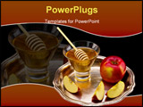 PowerPoint Template - honey and apple symbology new year beside jude