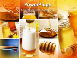 PowerPoint Template - beautiful honey collage made from six photographs
