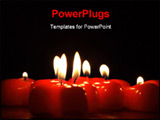 PowerPoint Template - on photo of the candle in the form heart.