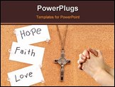 PowerPoint Template - Hope Faith and Love in God With Cross