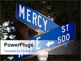 PowerPoint Template - Street signs at the corner of Hope and Mercy Street