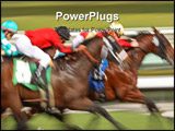 PowerPoint Template - Abstract blur of racing horses and jockeys