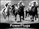 PowerPoint Template - b/w picture of horses racing