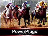 PowerPoint Template - horses racing