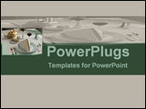 PowerPoint Template - Sophisticated  fine diningtable setting with green