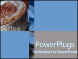 PowerPoint Template - Close-up of froth and cinnamon on cappuccino in cu