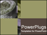 PowerPoint Template - Close-up in green and purple of froth and cinnamon