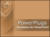 PowerPoint Template - Soft brown montage of caf� windows
