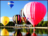 PowerPoint Template - hot air ballooning mass acsension