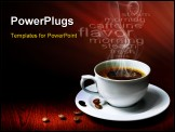PowerPoint Template - Hot coffee