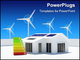 PowerPoint Template - Image of a house with renewable energy sources