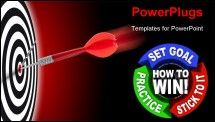 PowerPoint Template - How to Win - set goals practice and stick to it
