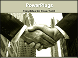 PowerPoint Template - hand shake for business deal