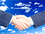 PowerPoint Template - hands meeting together for business deal