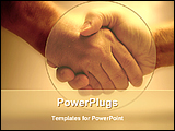PowerPoint Template - handshake for business deal