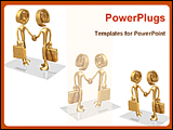 PowerPoint Template - business persons are handshaking