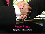 PowerPoint Template - two hands are shaking for business deal