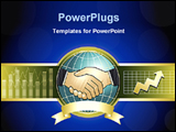 PowerPoint Template - illustrated image of handshake