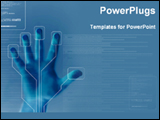 PowerPoint Template - program for finger printing security