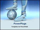 PowerPoint Template - image of a robot with football