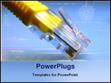 PowerPoint Template - image of network cable