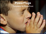 PowerPoint Template - child praying