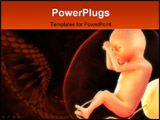 PowerPoint Template - 3d rendered medical illustration of a human fetus