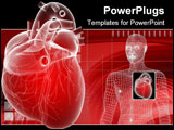 PowerPoint Template - 3d rendered anatomy illustration of a human heart