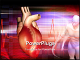 PowerPoint Template - Digital illustration of a Heart and human body