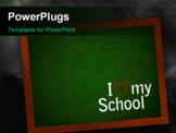 PowerPoint Template - Chalkboard On A Wall