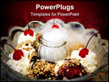 PowerPoint Template - large bowl of ice-cream with eight scoops of flavors