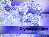 PowerPoint Template - Slice of crystalized ice.