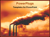PowerPoint Template - smokey picture of power plant