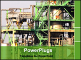 PowerPoint Template - plant of petrochemical installation