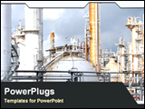 PowerPoint Template - image of refinery plant