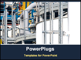 PowerPoint Template - detail of a chemical plant