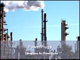 PowerPoint Template - image of oil refinery plant