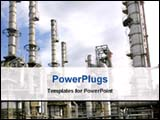 PowerPoint Template - oil refinery plant