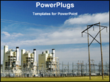PowerPoint Template - image of power plant