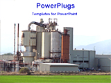 PowerPoint Template - view of a industrial plant
