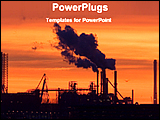 PowerPoint Template - image of a industry at the time of sunset